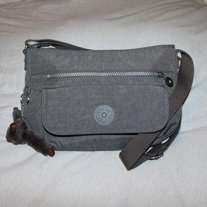 Kipling Crossbody Adjustable Gray Shoulder Bag